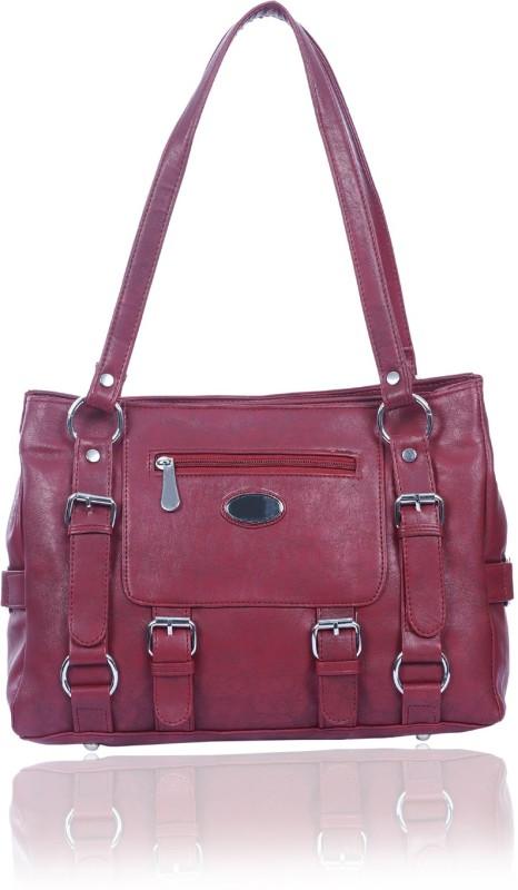 Rozen Women Maroon Shoulder Bag