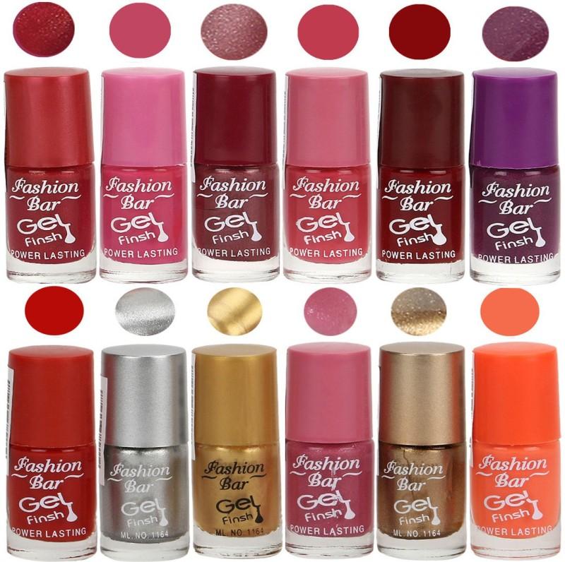 Fashion Bar Exclusive Color Range Nail Polish Set of 12 Grey(Pack of 12)