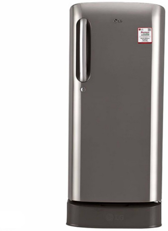 LG 190 L Direct Cool Single Door Refrigerator(Shiny Steel, GL-D201APZW)