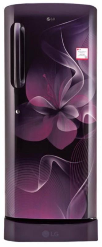 LG 235 L Direct Cool Single Door Refrigerator(Purple Dazzle, GL-D241APDX)