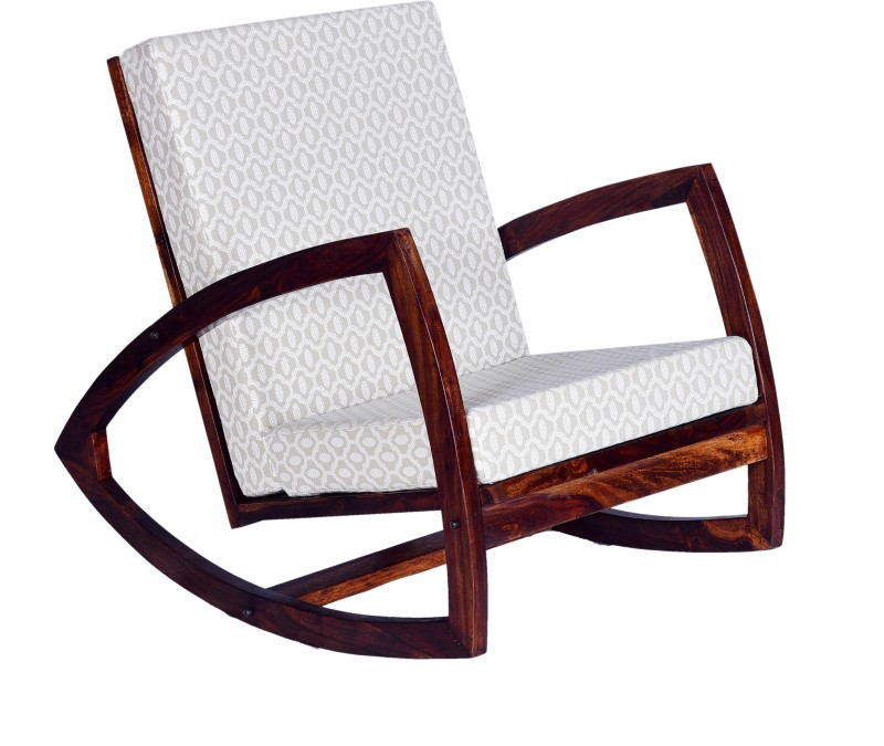 Home Edge Mekhi Solid Wood 1 Seater Rocking Chairs(Finish Color - Teak)