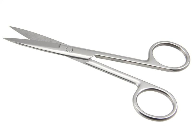 Majik Salon & Parlour Stainless Steel Eyebrow Scissors Scissors(Set of 1, White)