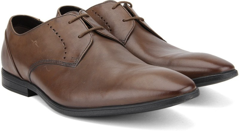 Clarks Bampton Lace Tan Leather Lace Up For Men(Tan)