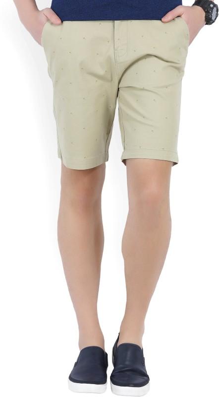 Wrangler Printed Mens Beige Chino Shorts