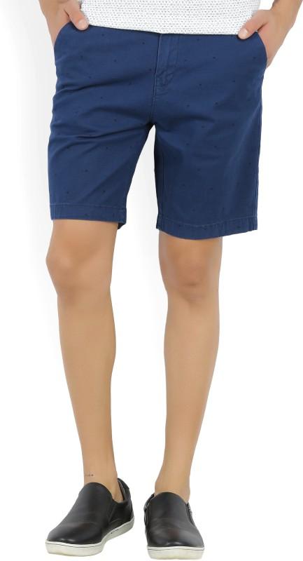 Wrangler Printed Mens Blue Chino Shorts