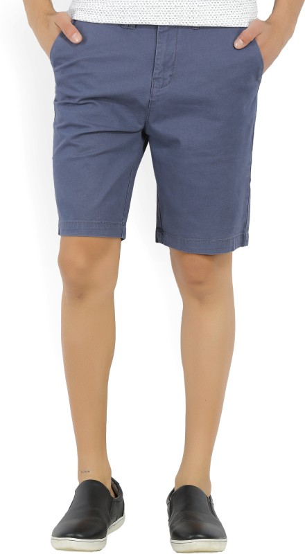 Wrangler Solid Mens Blue Chino Shorts