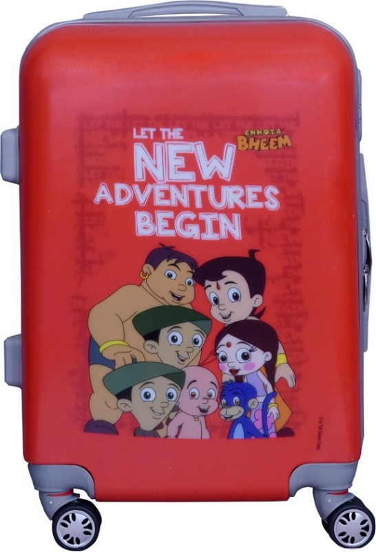8b324093e66 Fortune Chhota Bheem New Adventure Begin set of 20 Inch Luggage trolley Bag  Cabin Luggage -