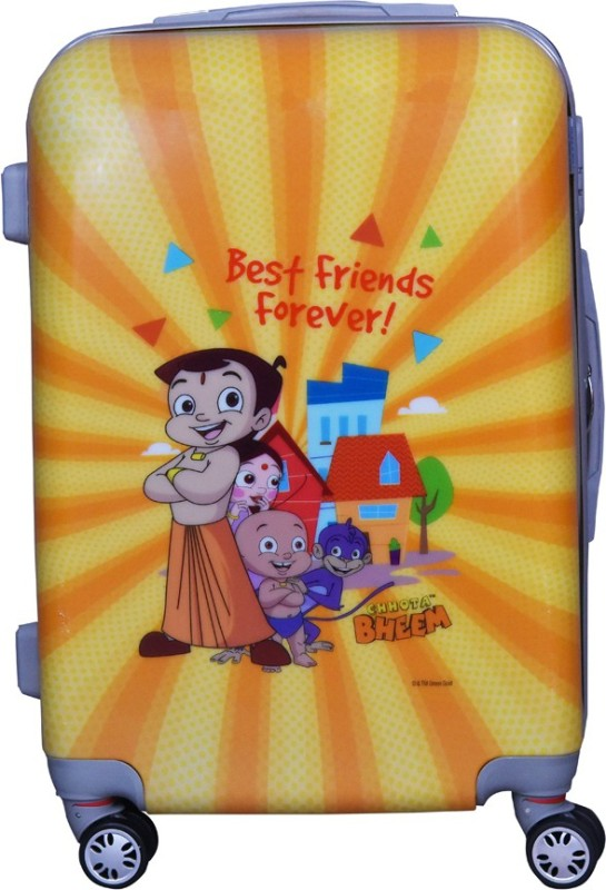 Fortune Chhota Bheem BestFriend Forever 22 Inch Kids Luggage trolley Bag Cabin Luggage - 22 inch(Silver)