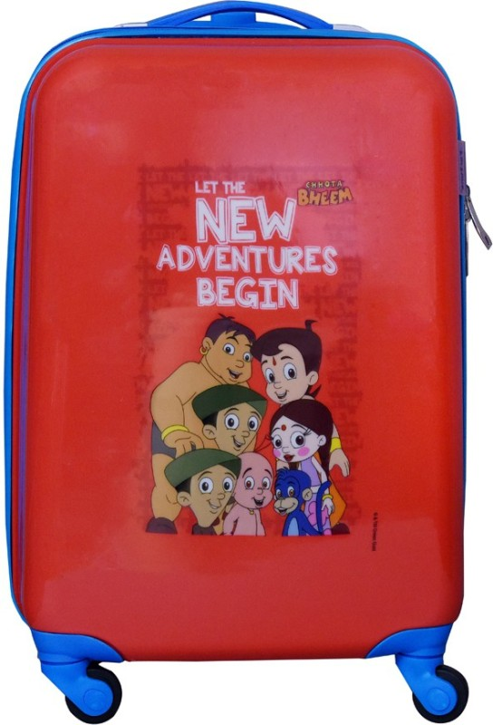 Fortune Chhota Bheem New Adventure Begin 18 Inch Kids Luggage Trolley Bag Cabin Luggage - 18 inch(Multicolor)