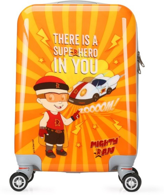 Fortune Chhota Bheem Super Hero In You 18 Inch Kids Luggage Trolley Bag Cabin Luggage - 18 inch(Multicolor)