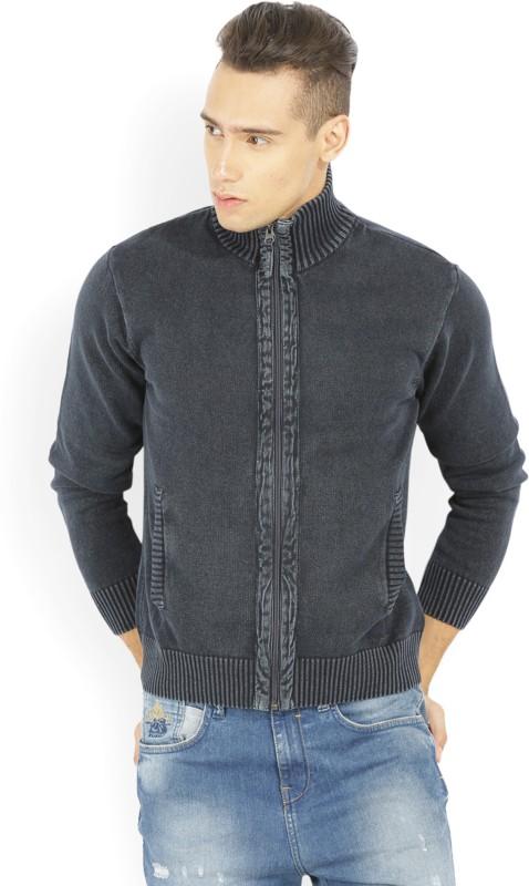 Wrangler Round Neck Casual Men Dark Blue Sweater