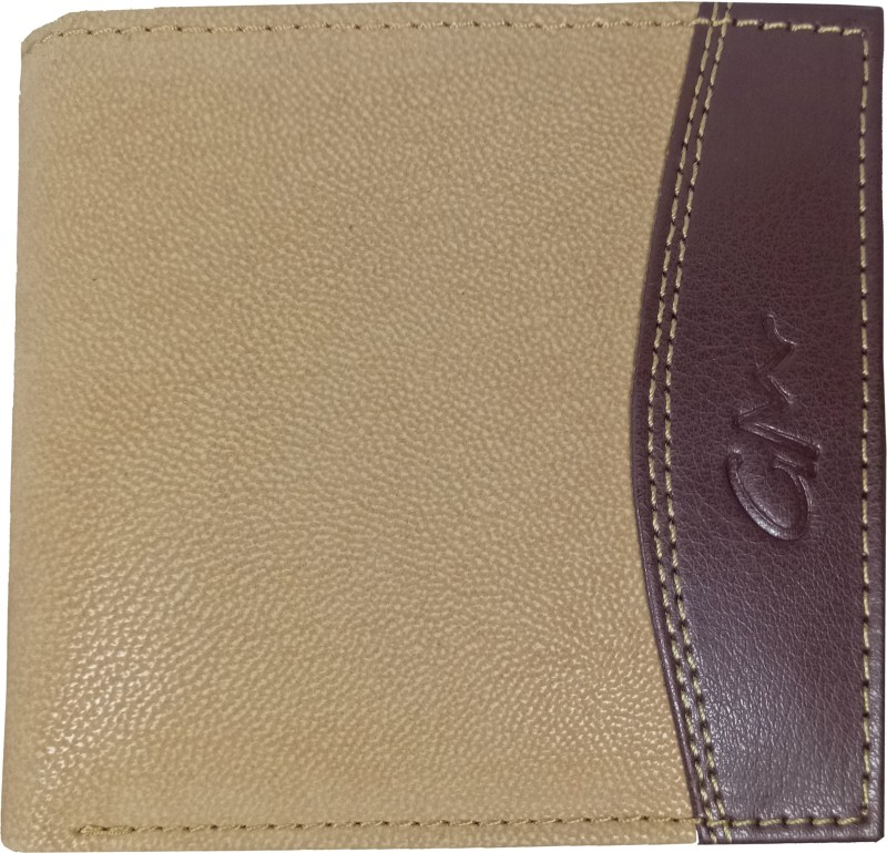 Gentleman Boys Beige, Brown Artificial Leather Wallet(7 Card Slots)