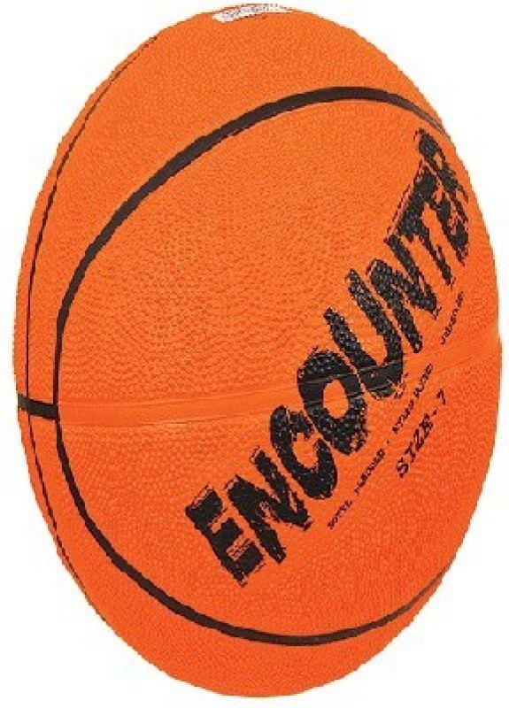 Nivia Encounter Basketball - Size: 5(Pack of 1, Orange)