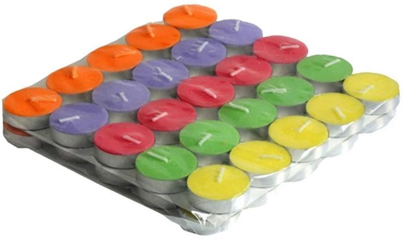 Skycandle.in Skycandle Multicolour Lac Tea Light Candle(Pack Of 50) Candle(Multicolor, Pack of...