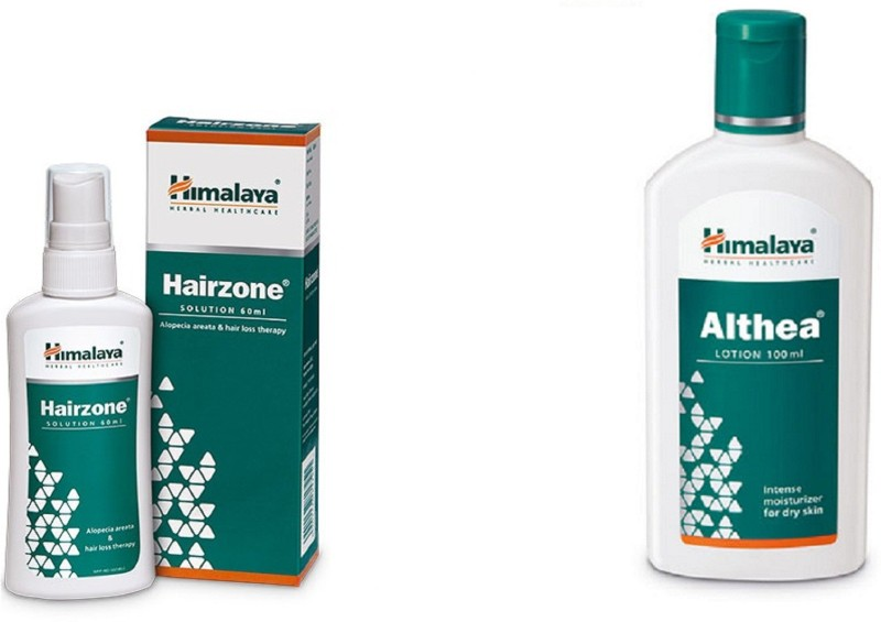 Himalaya hairzone solution with althea lotion(Set of 2)