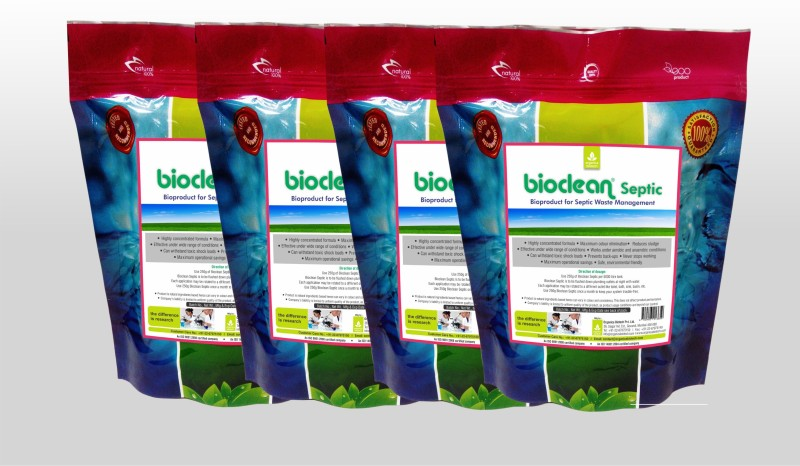 Bioclean Septic BSEPT4 Powder Drain Opener(1 kg, Pack of 4)