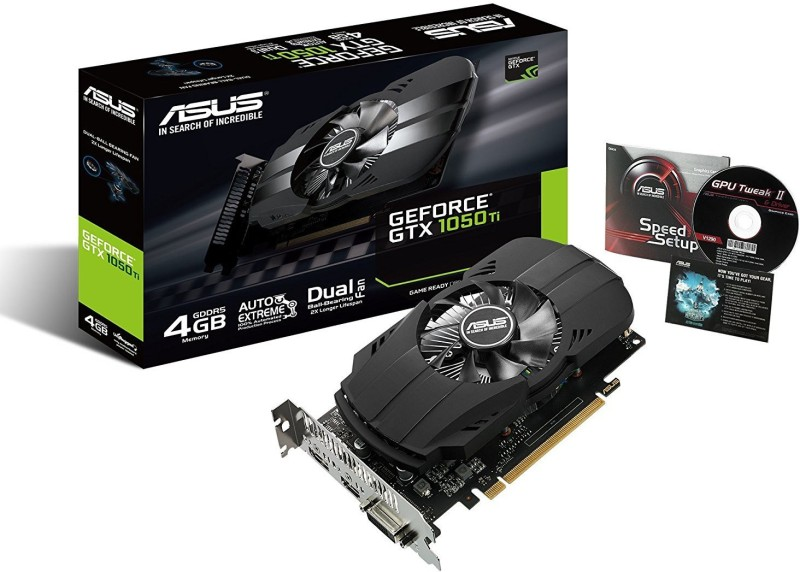 Asus NVIDIA Geforec GTX 1050Ti 4 GB GDDR5 Graphics Card(Black)