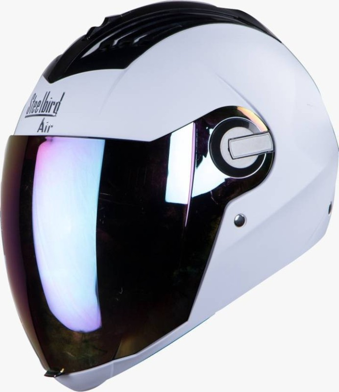Steelbird SBA-2 Dashing Motorbike Helmet(White)