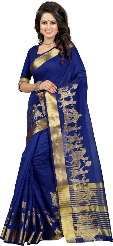 The Fashion Outlets Self Design, Plain Fashion Cotton, Silk Saree(Pink)