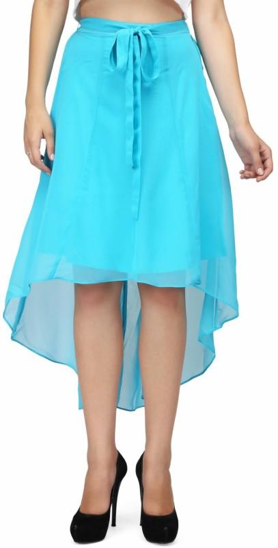 KARMIC VISION Self Design Women Asymetric Blue Skirt
