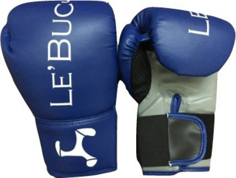 Le Buckle Boxing Gloves(blue and grey) Boxing Gloves (L, Blue)