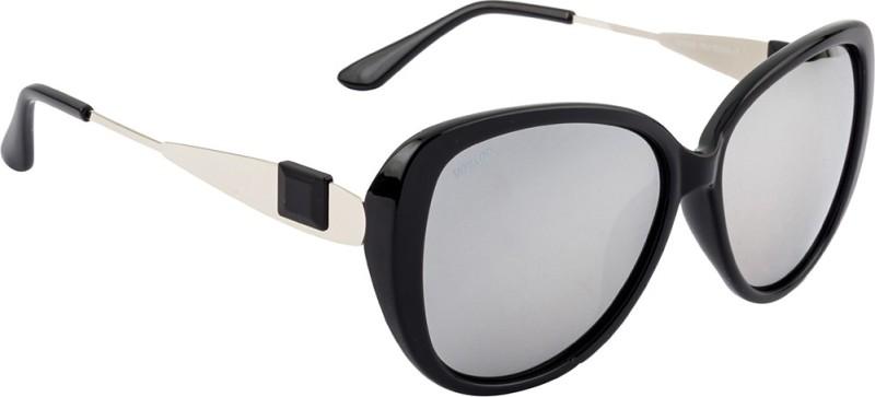 Voyage Cat-eye Sunglasses(Silver)
