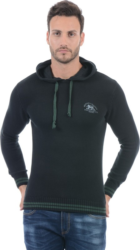 Pepe Jeans Solid Crew Neck Casual Men Black Sweater