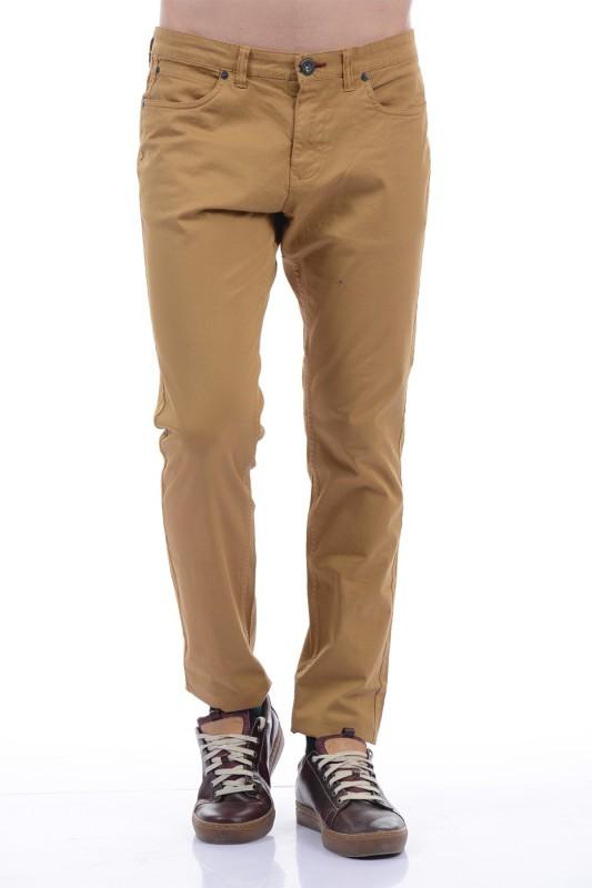 Pepe Jeans Regular Fit Men Brown Trousers
