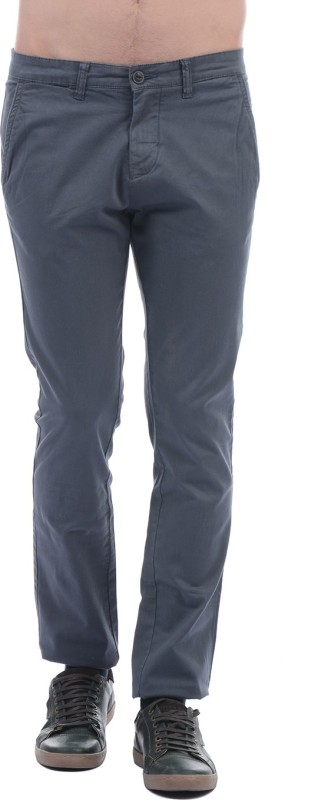 Pepe Jeans Slim Fit Men Grey Trousers
