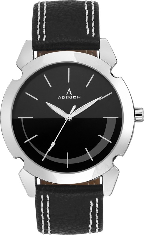 ADIXION 9520SLA1 New Stainless Steel watch with Genuine Leather Strep- Men's Watch image