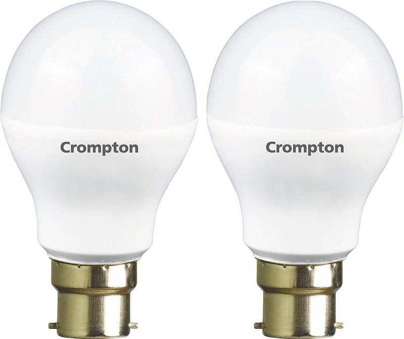 Crompton 3 W Standard B22 LED Bulb(White, Pack of 2)