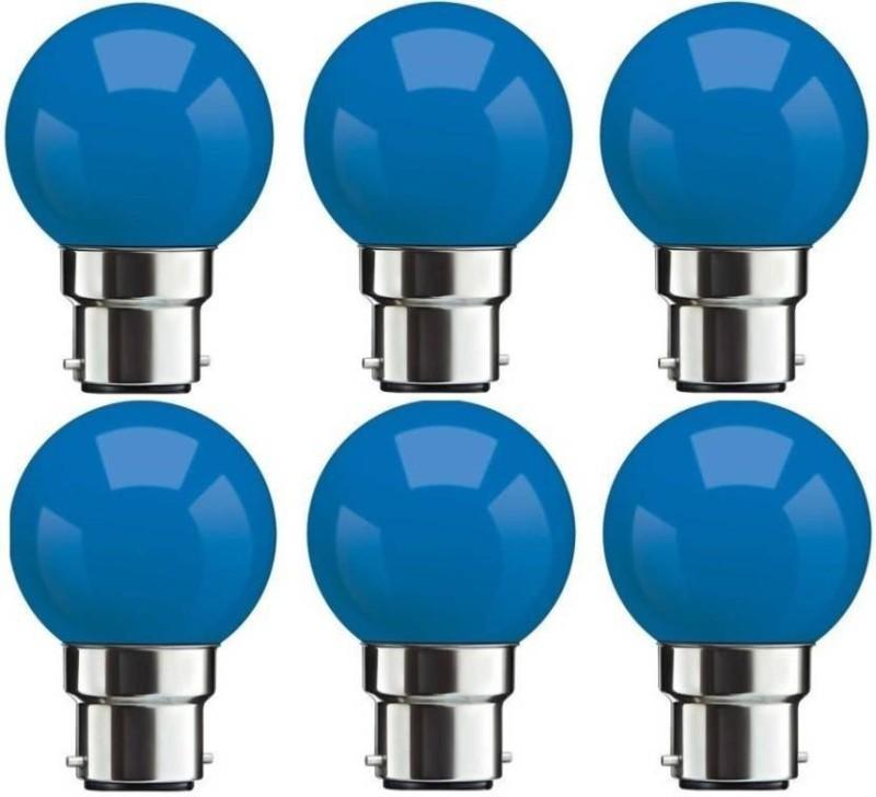Syska 0.5 W Standard B22 LED Bulb(Blue, Pack of 6)