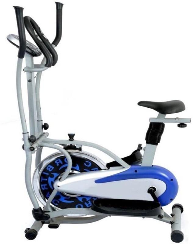 wellfit orbitrek Dual-Action Stationary Exercise Bike(Blue, Silver)