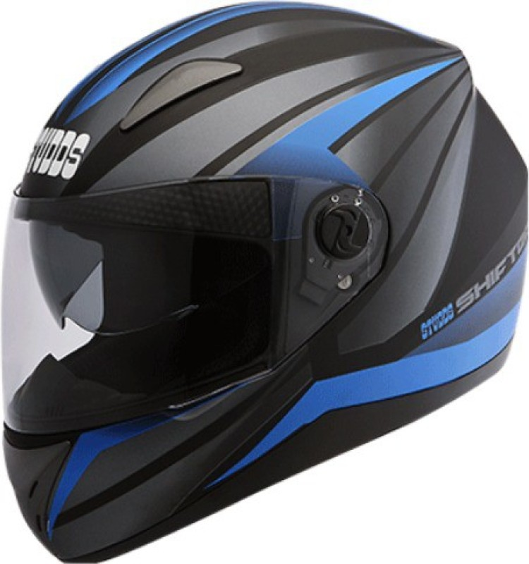 Studds SHIFTER D2 DECOR Motorbike Helmet(D2 MATT BLACK N10 BLUE)