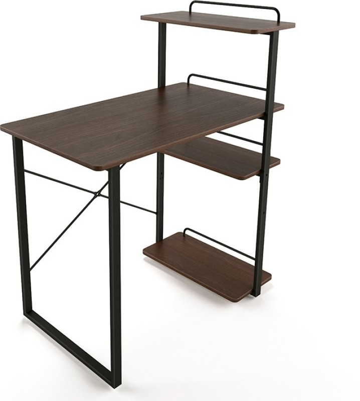 Urban Ladder Wallace Engineered Wood Study Table(Free Standing, Finish Color - Wenge)