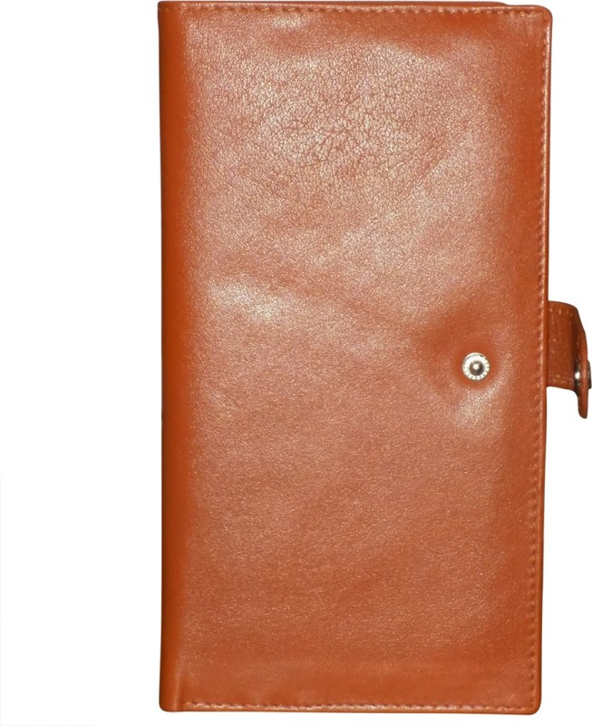 Style 98 Women Tan Genuine Leather Wrist Wallet(8 Card Slots)