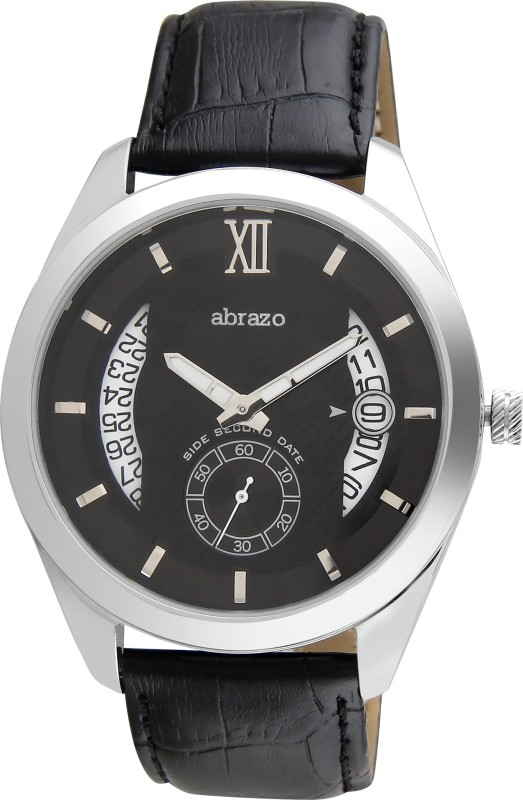 abrazo AB-WT-MN-ROUND-DATE-BL Analog Watch - For Men