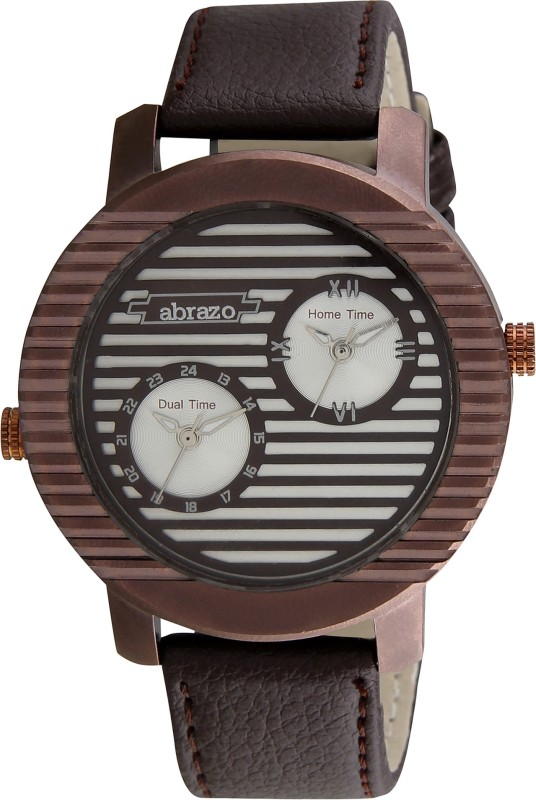 abrazo AB-WT-MN-ROUND-LINE-BR Analog Watch - For Men