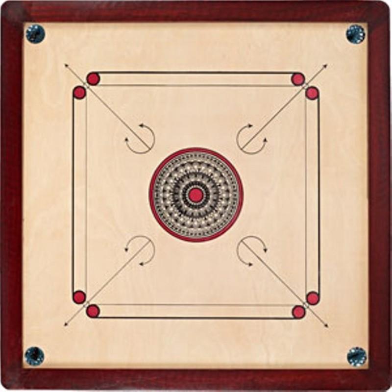 TURBO High Quality Carrom Coins & Striker (1.5X1.5 ) Carrom Board(Multicolor)