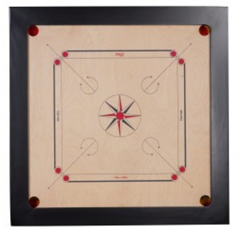 TURBO High Quality Carrom Coins & Striker (4X2 ) Carrom Board(Multicolor)
