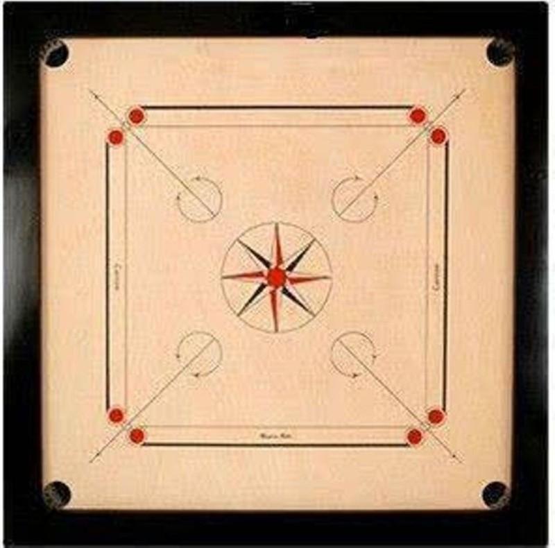 TURBO High Quality Carrom Coins & Striker (3X2 ) Carrom Board(Multicolor)