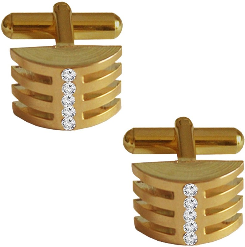 Rich & Famous Brass Cufflink Set(Gold)