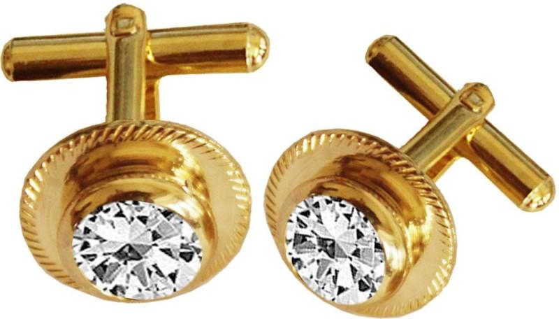 Rich & Famous Metal Cufflink Set(Gold)