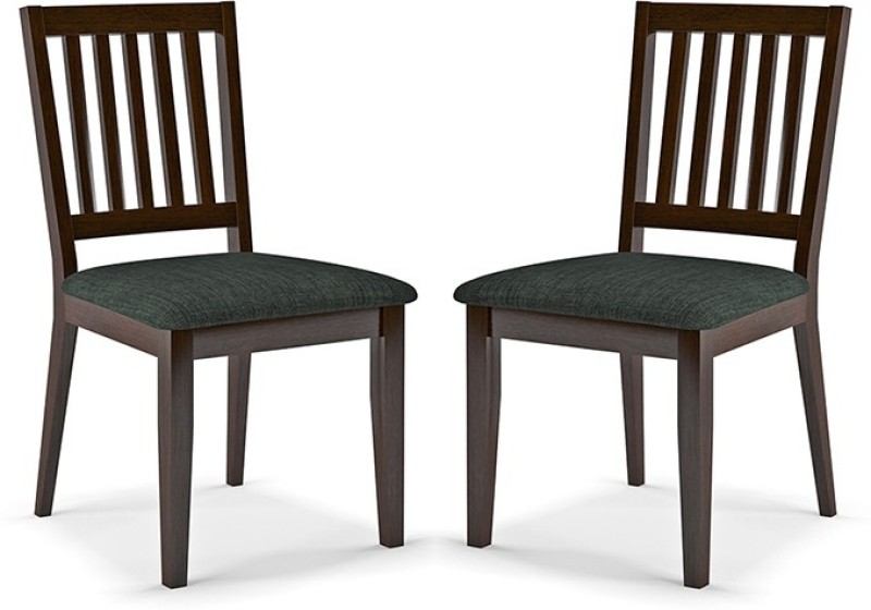 Urban Ladder Diner Solid Wood Dining Chair(Set of 2, Finish Color - Dark Walnut)