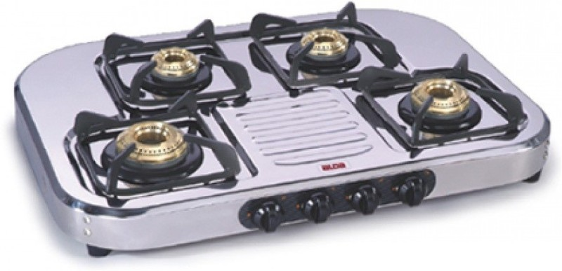 Alda Glen LPG Stove CTA 147 HF 4 Burner Gas Stove Cooktop Stainless Steel Manual Gas Stove(4 Burners)