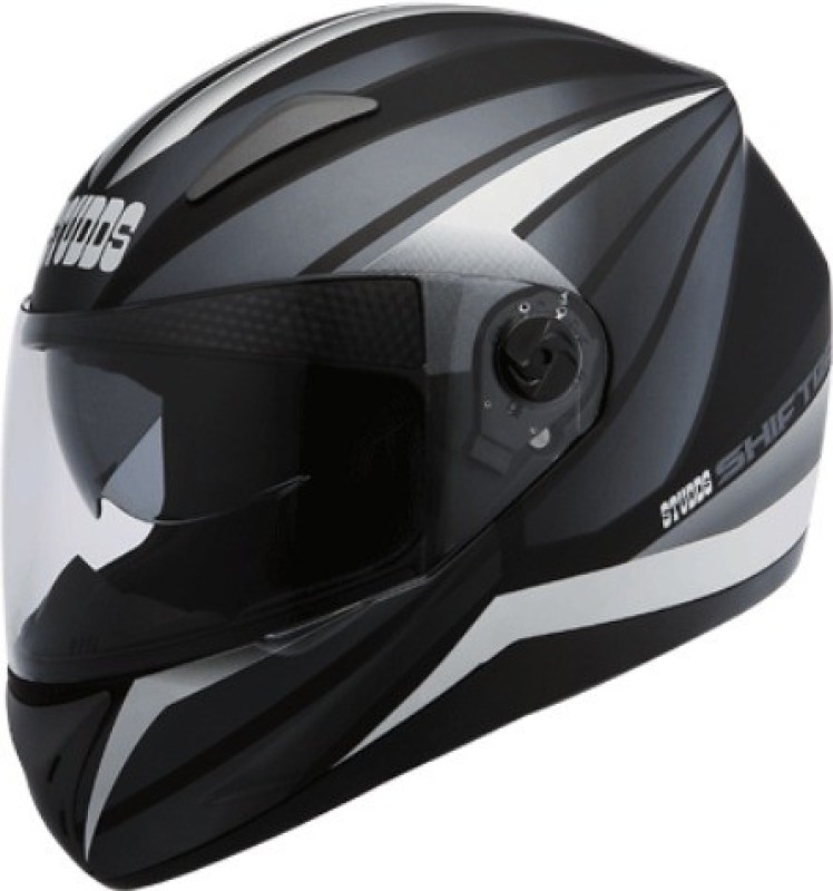 Studds SHIFTER D2 DECOR Motorbike Helmet(D2 MATT BLACK N4 GREY)