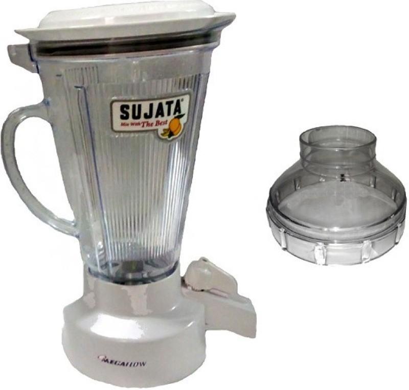 SUJATA MEGA FLOW JAR 900 W Mixer Grinder(White, 1 Jar)