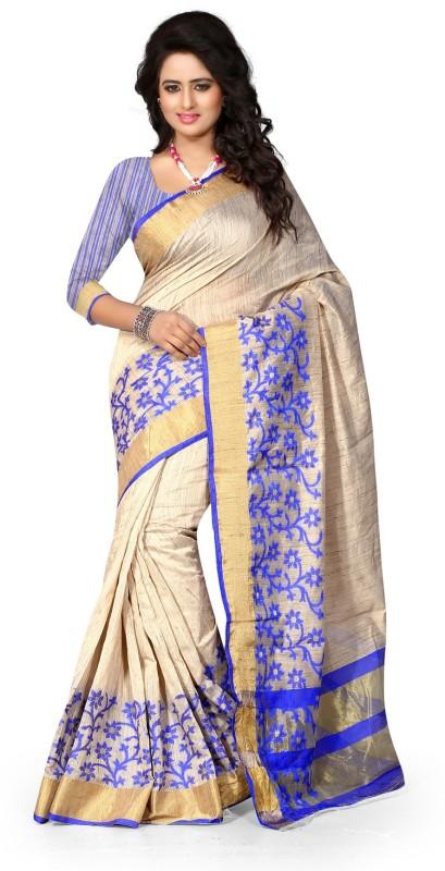 B4BEST CREATION Printed Fashion Cotton Silk Saree(Blue)