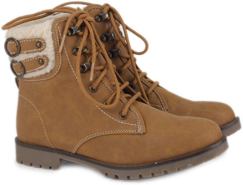 Carlton London Boots For Women(Tan)
