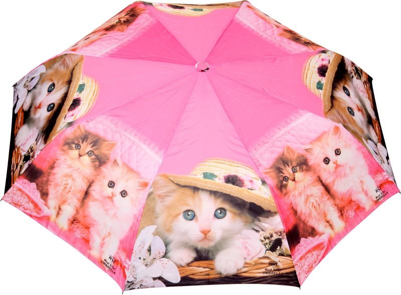 FabSeasons Fancy Printed Umbrella for Rains and All Seasons Umbrella(Pink)